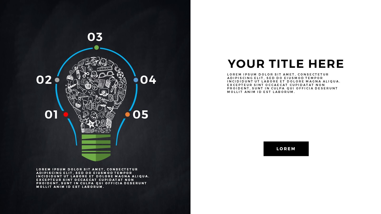 infographic education elements for powerpoint templates