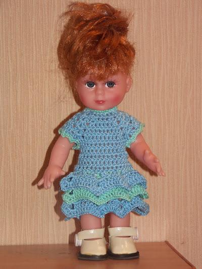 Платье для куклы с описанием и фото.