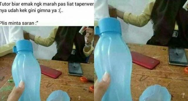Bocah ini Bingung, Gak Berani Pulang Karena Botol ini, Netizen: