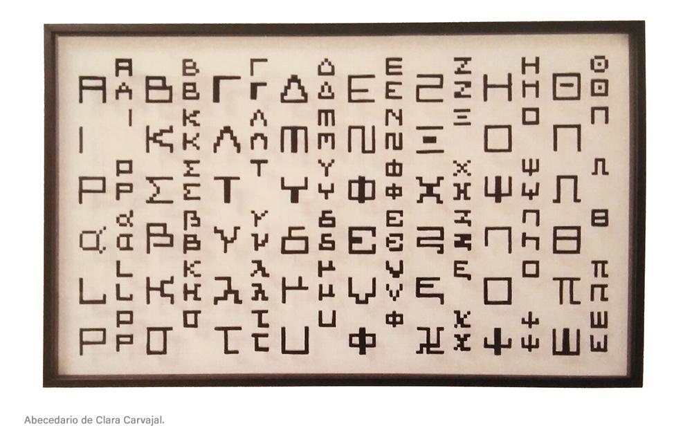 Alfabeto creado por Clara Carvajal para dar voz a las amazonas.