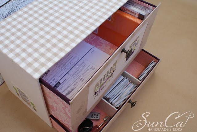 шкатулка с выдвижными ящиками
