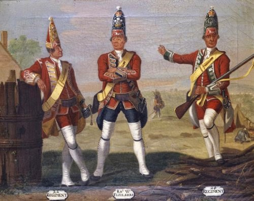 22nd and 24th Regiments of Foot, and 23rd Royal Welch Fusiliers, Grenadiers, 1751