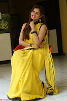 Cute Actress Ashwini in Yellow Saree Exclusive  007.JPG