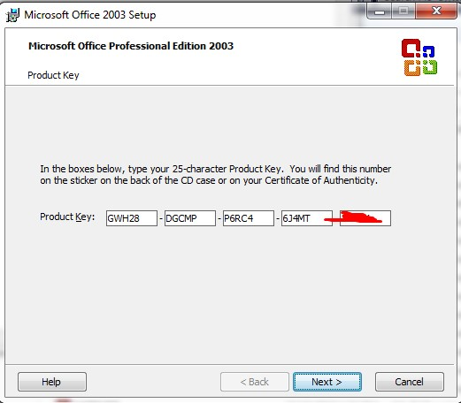 microsoft word 25 character product key 2007