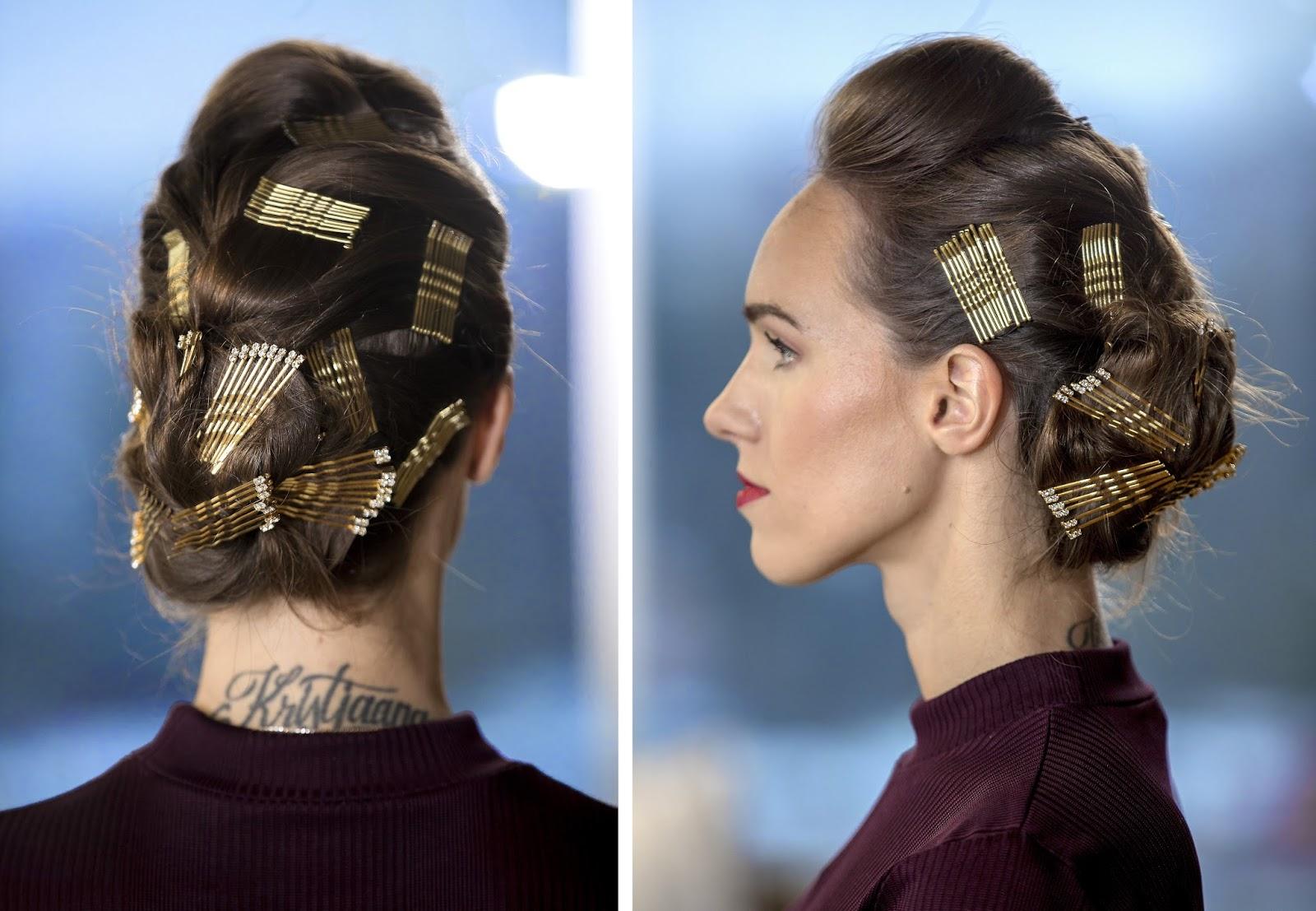 bobby pin updo hairstyle tutorial long hair