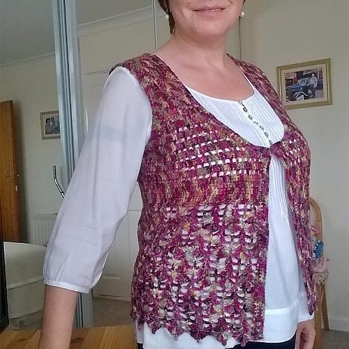 Tina's Allsorts, crochet waistcoat