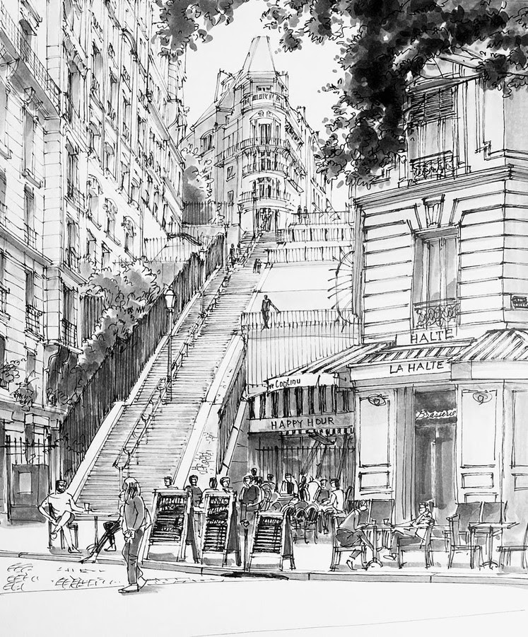 07-Staircase-at-Montmartre-Stephen-Travers-www-designstack-co