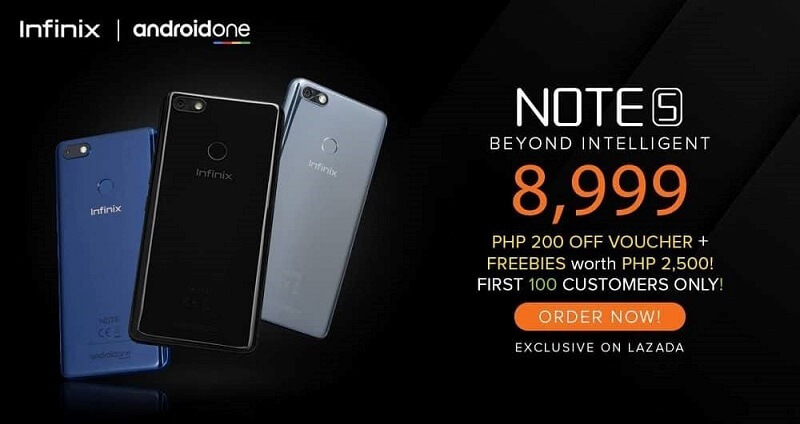 Infinix Note 5 Is Coming to PH; 18:9 Screen, Helio P23, Android One, and 4500mAh Battery for Php8,999!