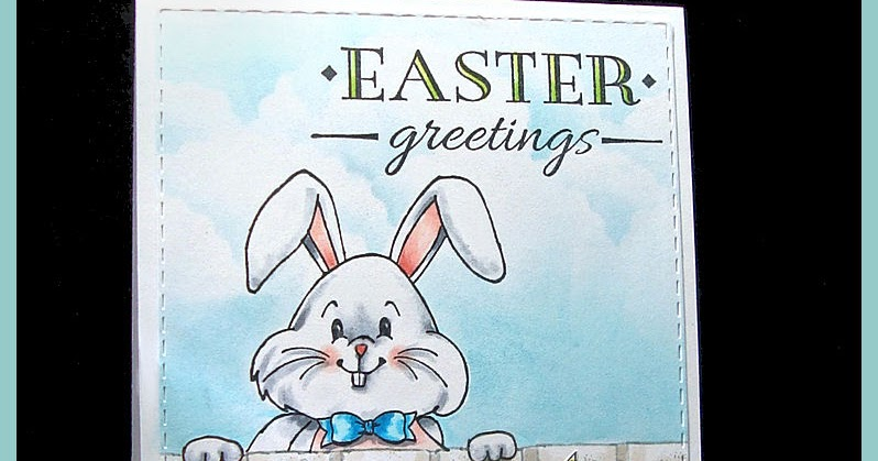 Big Bunny Face Rubber Stamp By DRS Designs