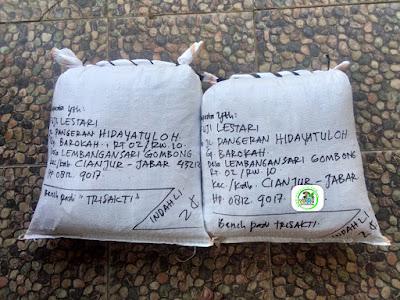 Benih pesanan FUJI LESTARI Cianjur, Jabar.   (Setelah Packing)
