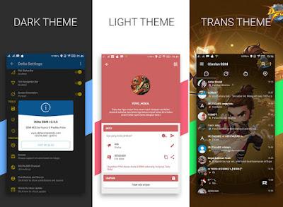 Aplikasi BBM Mod Android Delta v 3.0.0.18 Release Terbaru Changelog v3.6.1
