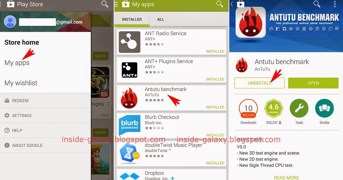 Inside Galaxy Samsung Galaxy S5 How To Uninstall An