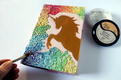 Tutorial : Altered Agenda Cover with Golden Unicorn