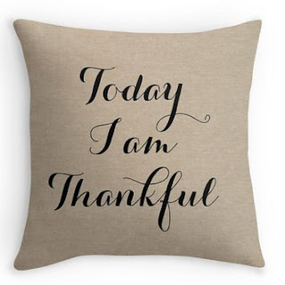 Thankful Pillow Cover featured on Walking on Sunshine.