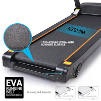 Multi-layer composite belt with lawn-texture design on Ancheer Folding Electric Treadmill, image