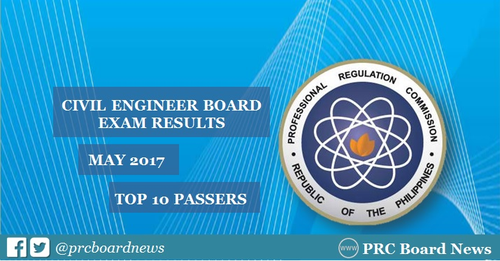 top 10 civil engineer board exam results