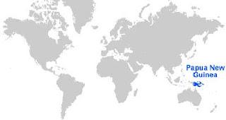 Gambar Peta letak Papua Nugini