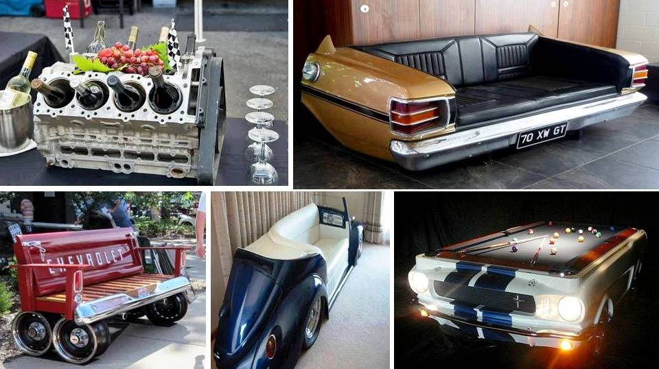 Creative Ideas To Re-purpose Old Car Parts - Decor Units