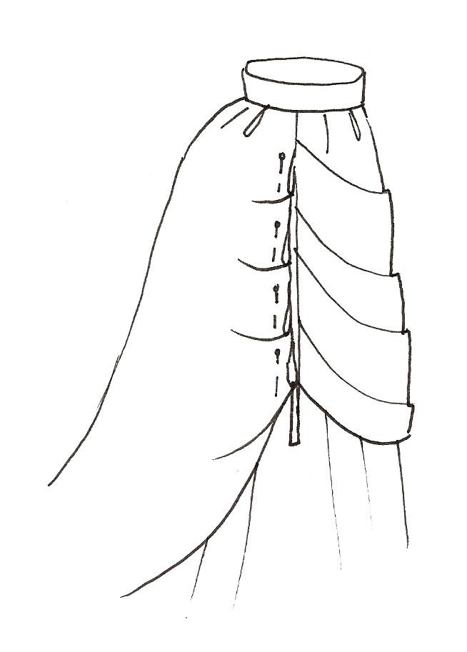 Victorian Bustle Skirt Pattern 112