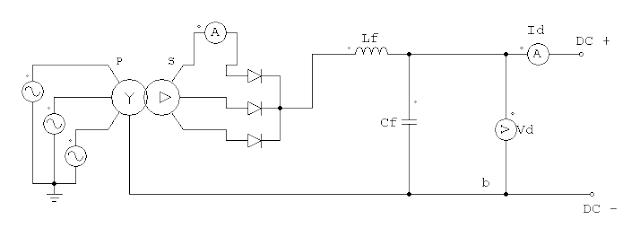 Penyearah dioda 3 fasa  ½ gelombang