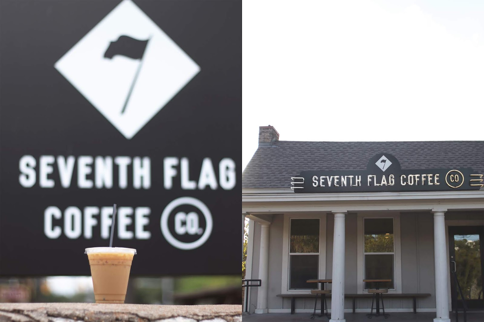 Seventh Flag Coffee Company Austin, Iced Coffee, Cozy Coffee Shop, Coffee Shops Vibe