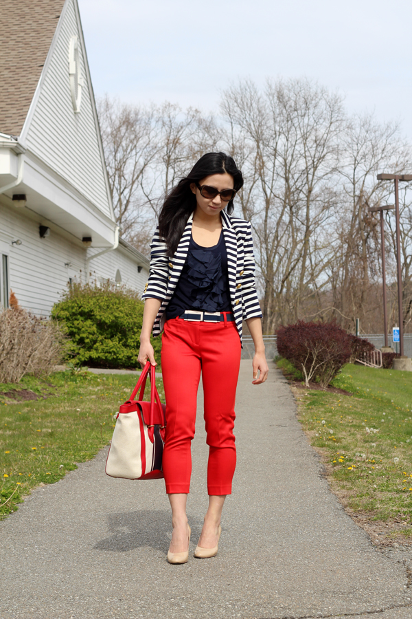 Nautical Stripes and Cardinal Red