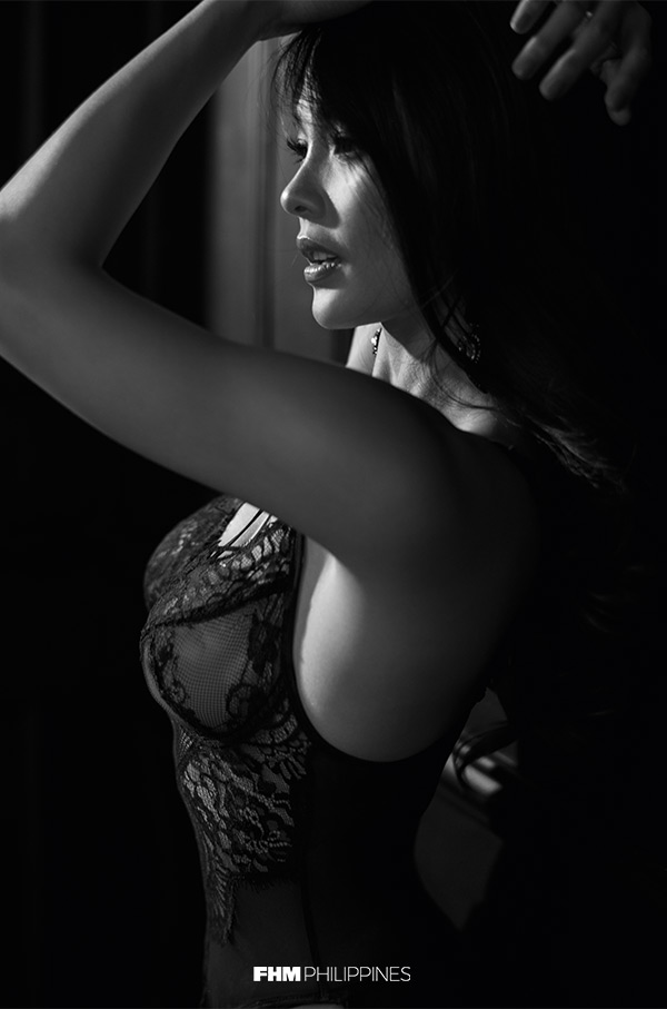 Lovely Abella in black bra