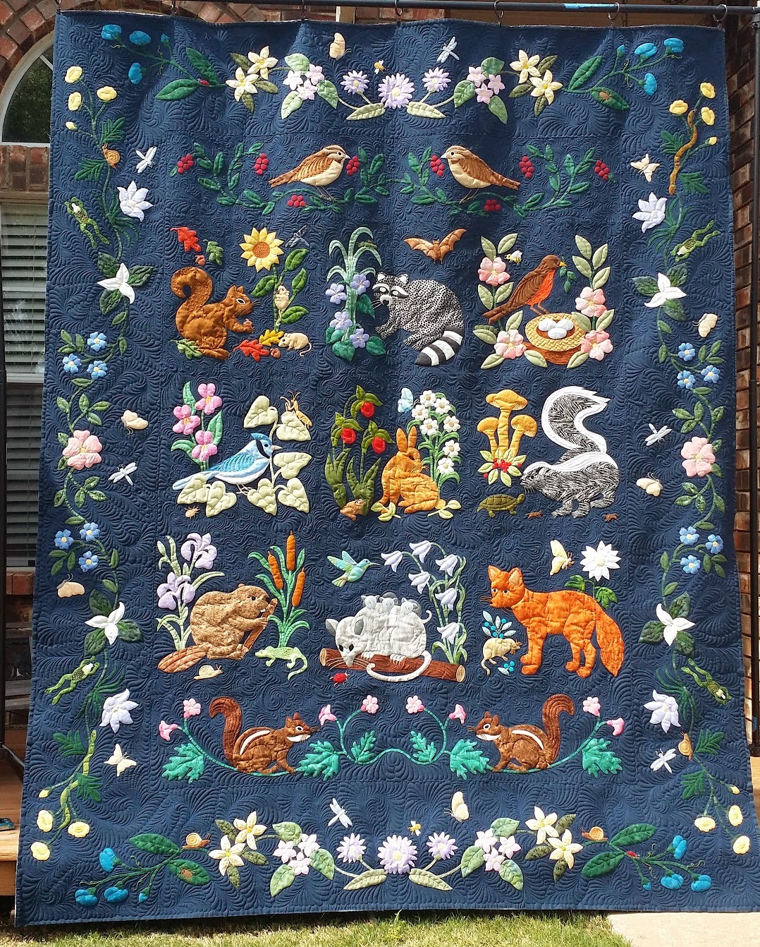 Confessions Of A Serial Quilter Woodland Creatures Is Done