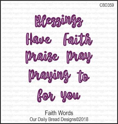 ODBD Custom Dies: Faith Words