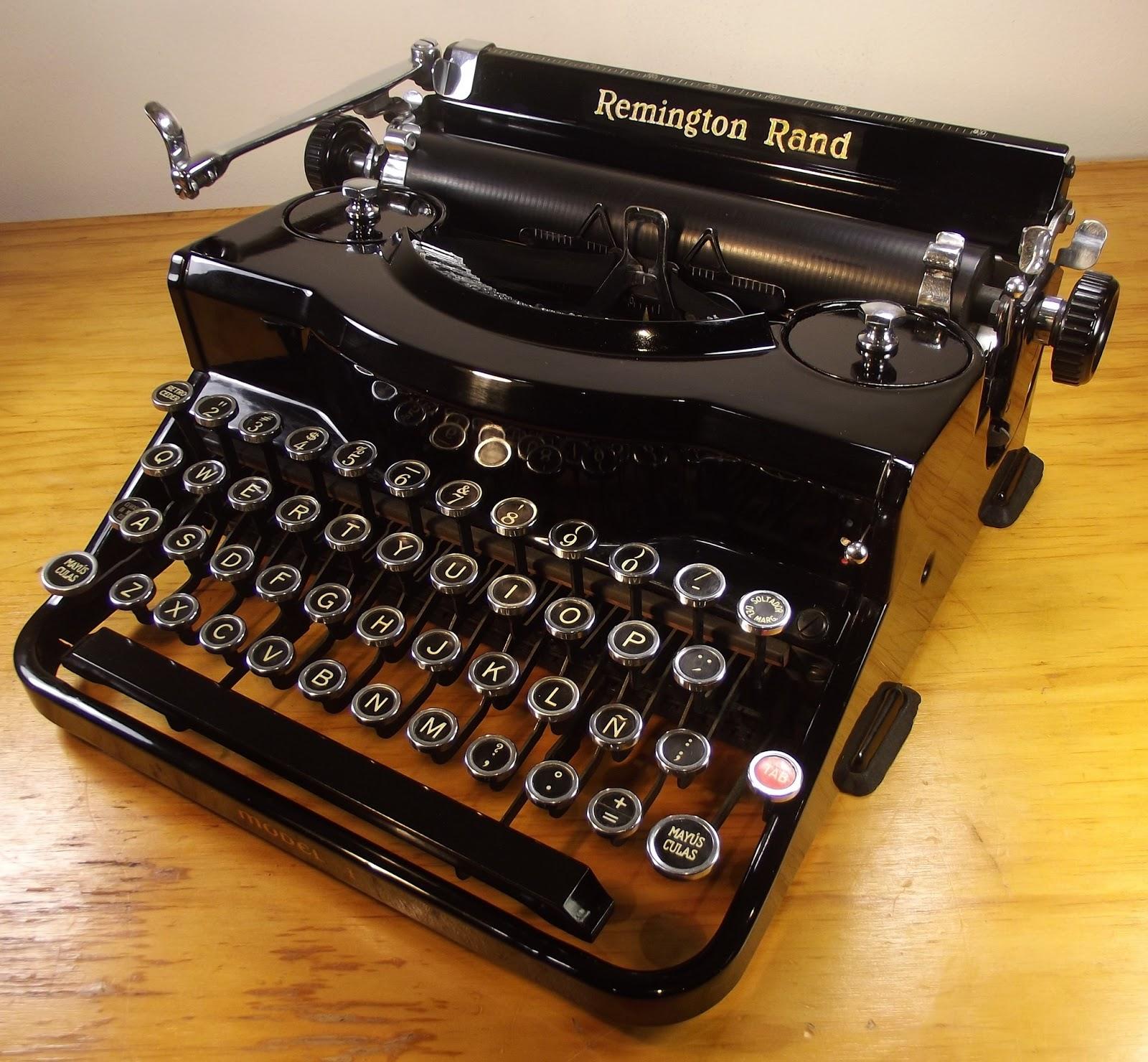 oz Typewriter: Remington Rand Model 1 Portable Typewriter