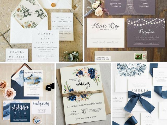 Convites de casamento tradicionais