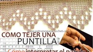 Cómo tejer un borde o puntilla crochet leyendo el patrón / Video Tutorial