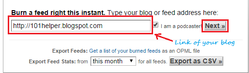 How to set up an Rss feed for your blog with Feedburner