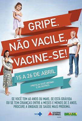cartaz do dia da vacina contra a gripe