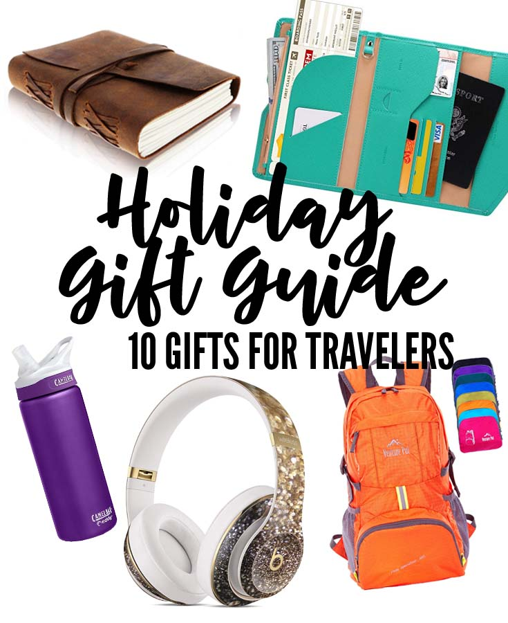 10 awesome gift ideas for travelers, see the world and keep track of it with these 10 items.