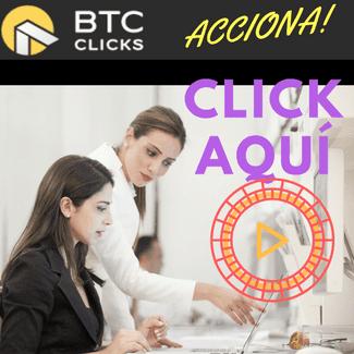 btc clicks, earn bitcoin tiene la particularidad de que obtengas tus fracciones de bitcoin viendo anuncios. Earn bitcoin representa que ganas bitcoin. En este caso haciendo acciones en Btc clicks.