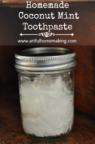 Homemade coconut mint toothpaste artful homemaking - Keep toothpaste kitchen ...