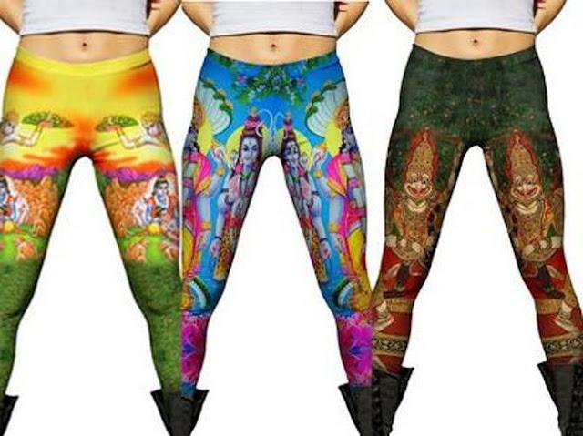 Hindus, California, online retailer, Hindu Gods leggings, Carlsbad, Scarlet Lounge, Vishnu-Shiva-Brahma-Ganesha-Krishna-Kali, Hindu statesman, Rajan Zed