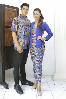 Model baju batik couple formal