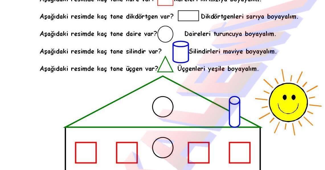 Geometrik şekil Boyama Gazetesujin