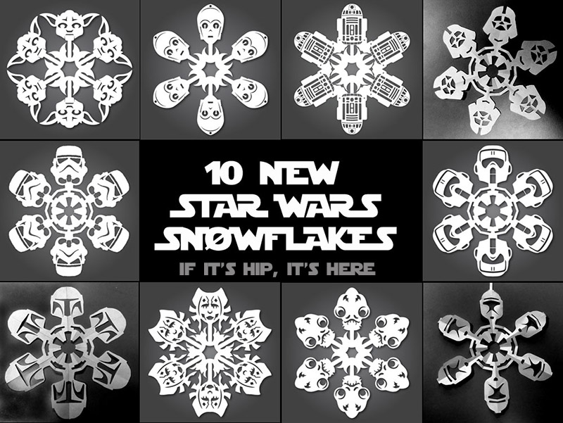 It S Snowing Star Wars Again 19 New Star Wars Diy Snowflake