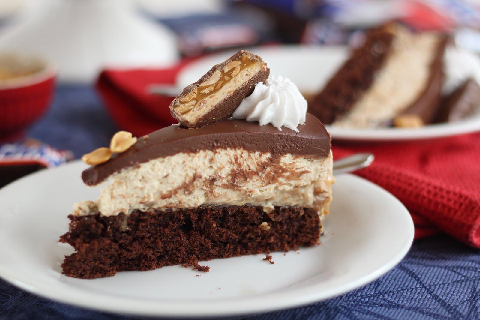 Leckere vegane Snickers-Torte/ Erdnuss-Karamell-Schoko-Torte | Rezept und Video von Sugarprincess