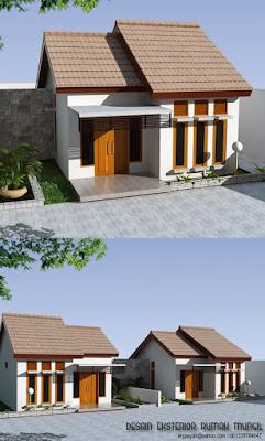 Desain Fasad Rumah Mungil Minimalis 2 Cluster