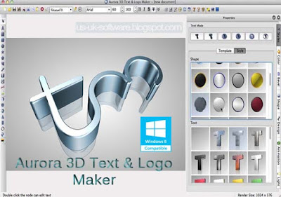 Aurora 3D Text - Logo Maker 2016 For Windows 8 Full Download