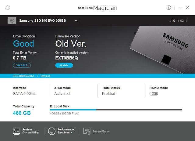Samsung SSD EVO - Aktualizacja Firmware