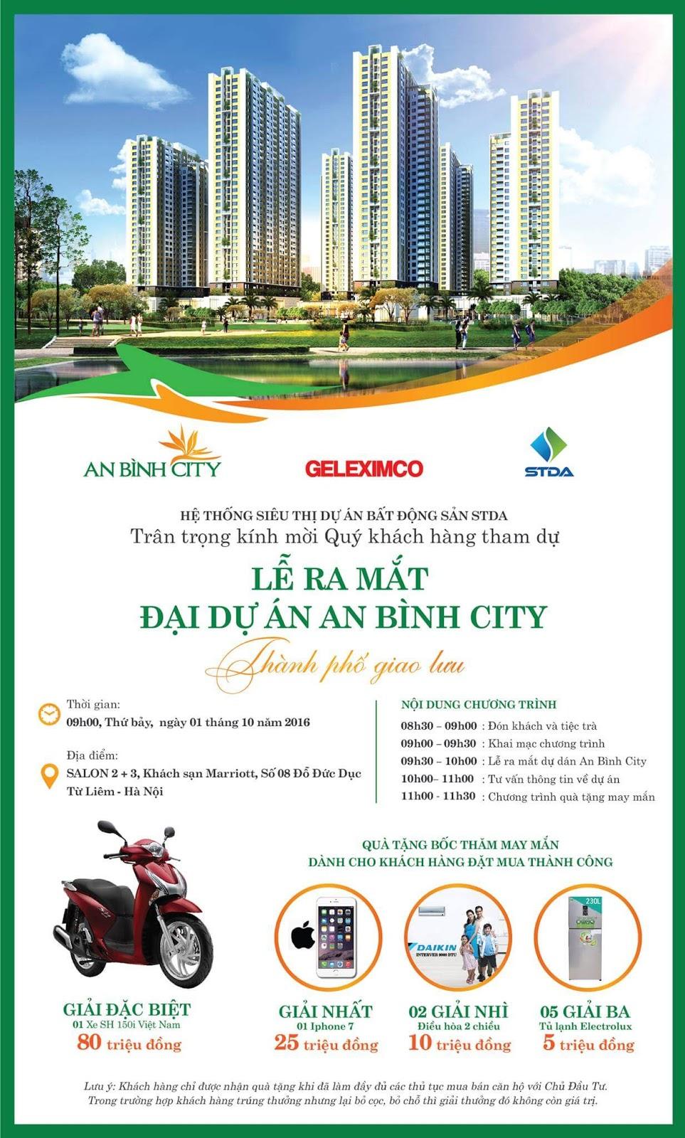 Thư mời mở bán dự án chung cư An Bình City
