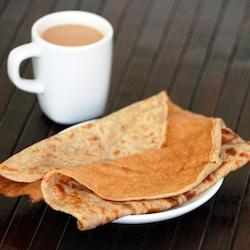 Easy to make crepe pancakes with banana cardamom