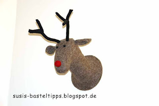 Rudolph the red nosed Reindeer in einem schottischen Hostel: Foto von Susanne McDonald, unabhängige Stampin' Up! Demonstratorin