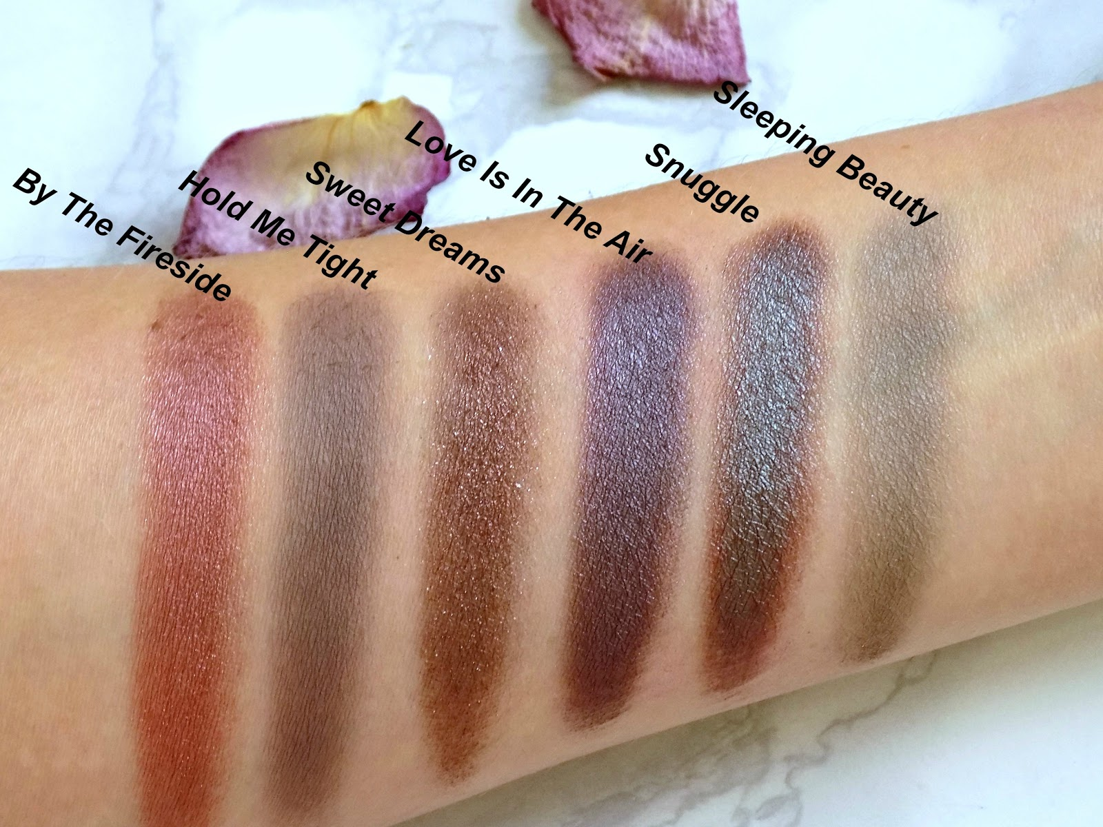 Sleek Good Night Sweetheart eyeshadow palette swatches
