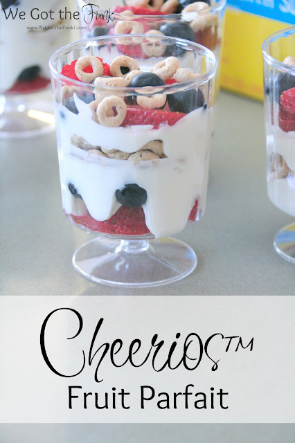 #GiveABox, ad, Mom, Fruit Parfait, Peanut Butter Chocolate Chip Breakfast Bars, Honey Nut Cheerios™ Cream Cheese Cinnamon Muffins, Recipes,